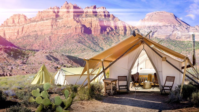 Having opened this August, Under Canvas Zion has stunning views of the area's landscapes.