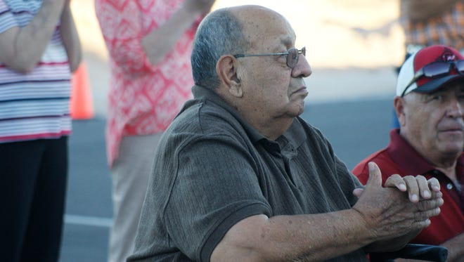 Retired Board of Education member Ruben S. Torres attended the ribbon-cutting ceremony at the new Deming High School.