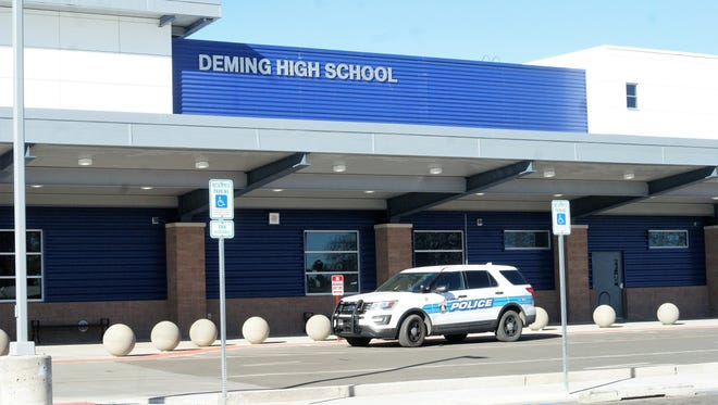 In this file photo, the Deming Police Department paid a routine visit to the campus of Deming High School.