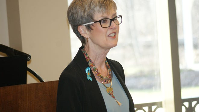 Marcie Seidel, executive director of the Prevention Action Alliance, calls for more information on medical marijuana that will be available in Ohio in September.