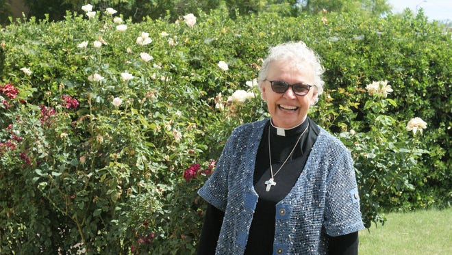 Pastor Susan Hutchins of the Episcopal Diocese of the Rio Grande, at St. Luke's Episcopal Church in Deming.