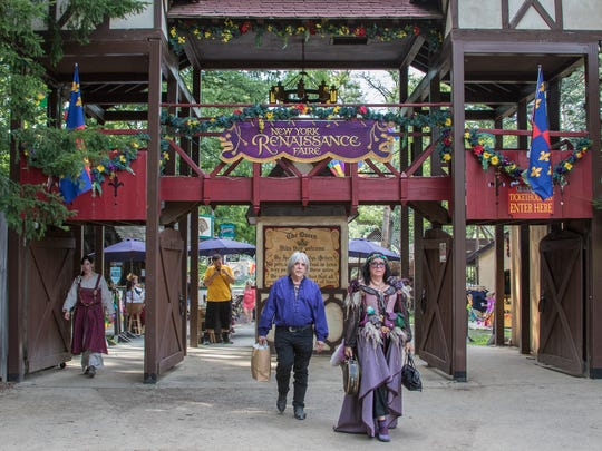 Hundreds of brightly costumed performers entertained thousands of visitors at the 39th annual Renaissance Faire in Tuxedo on Saturday.  The Faire is a rollicking romp through Elizabethan England, set within the majestic groves of Sterling Forest.