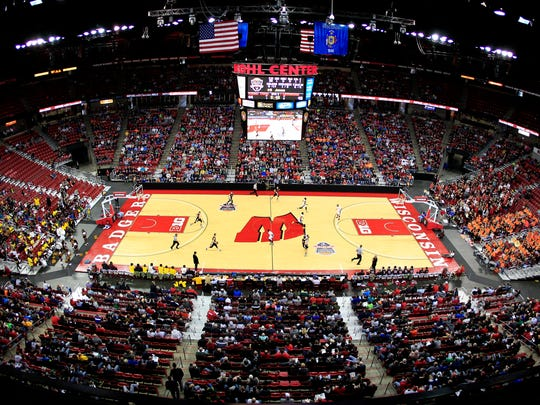 The WIAA state boys basketball tournament at the Kohl Center in Madison.