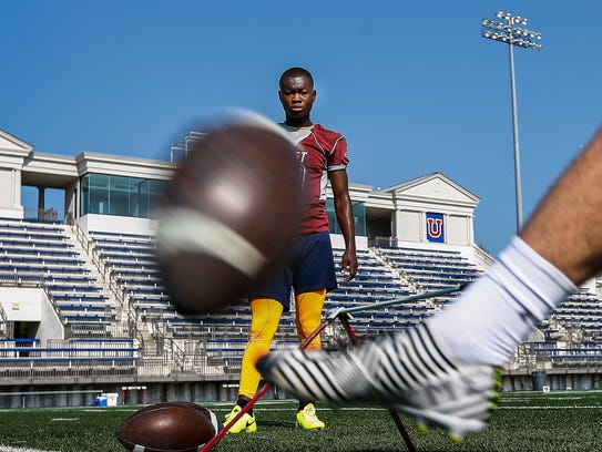 East High School football place kicker Ntirenganyi