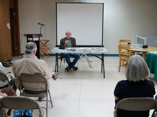 """Silver City author Ron Hamm held a book signing at the Silver City Museum Annex this morning. The book """"Ross Calvin: Interpreter of the American Southwest,"""" is the biography of a former minister of the Episcopal Church of the Good Shepherd who also was an author."""