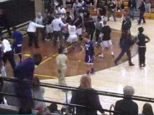 Hammond and Griffith high school brawl