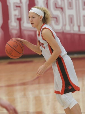 Lucas' Jamie Grover headlines a deep and young Lucas Lady Cubs girls basketball team.
