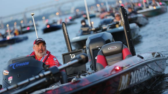 Scenes from the Bassmaster Elite Series on the Delaware River. Aug 08, 2014.