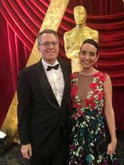 Thom Powers with wife Raphaela Neihausen at the 2017 Academy Awards for her nominated short Joe's Violin.