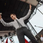 Mayer Hawthorne performs on the AXS TV Stage on Sunday at the 2016 Hangout Music Festival.