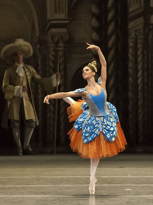 The American Ballet Theater principal dancer Misty Copeland performs during The Sleeping Beauty on Thursday, Mar. 31, 2016 at the Detroit Opera House in Detroit.