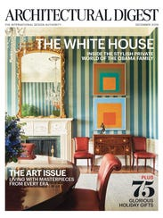 December 2016 cover of 'Architectural Digest' on White