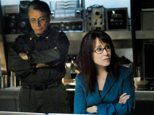 Edward James Olmos as Admiral Adama and Mary McDonnell