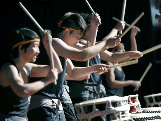 Experience traditional Japanese taiko drumming Saturday