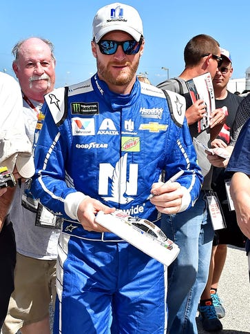 Dale Earnhardt Jr. is NASCAR's 14-time most popular