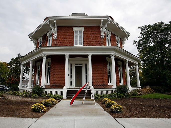 The historic Loren Andrus Octagon House in northern