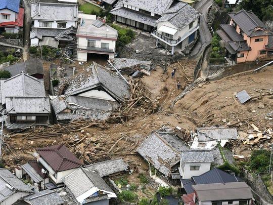 APTOPIX Japan Heavy Rain