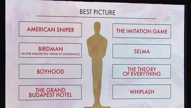 Bay Park Cinema in Ashwaubenon will show all eight of the Best Picture nominees on Saturday and Feb. 21.