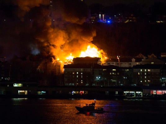 APTOPIX Apartment Building Fire