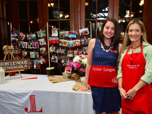 Nikki Fuqua and Alexia Griffin at the Junior League Dishes It Out event.
