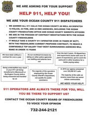 A flyer circulated by Teamsters Local 97, which represents