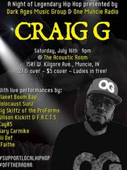 Craig G will be at The Acoustic Room, 1501 W. Kilgore