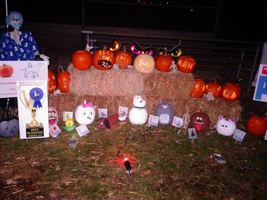 The winning display at the 2016 Jack-O-Lantern Jaunt