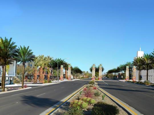 A rendering of what Highway 111, between Monterey and