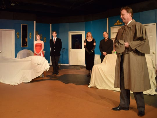 "The Riverfront Playhouse presents ""The Game's Afoot"
