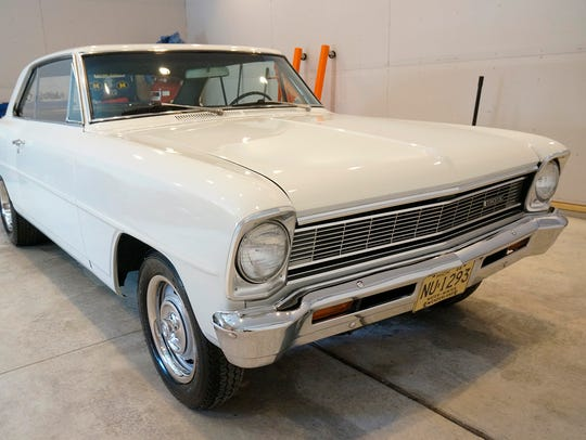 This restored 1966 Chevrolet Nova owned by Tyson Humphries