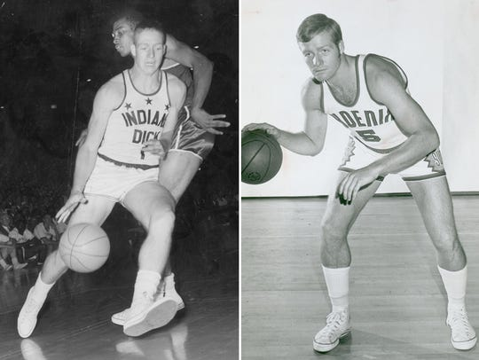 Dick Van Arsdale as an Indiana All-Star (left) and