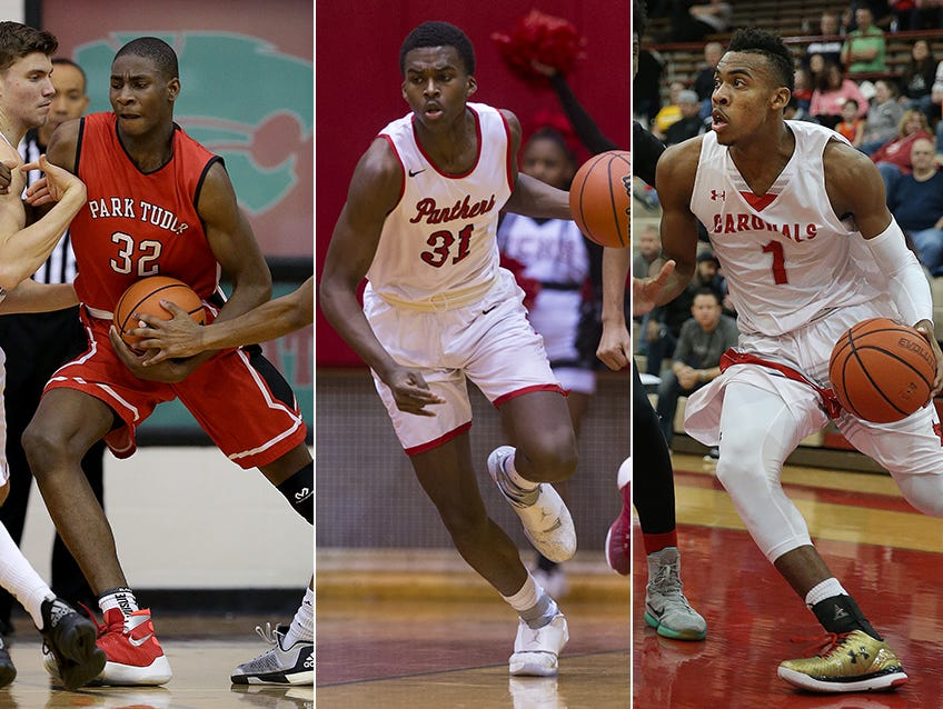From left to right: Jaren Jackson Jr., Kris Wilkes and Paul Scruggs.