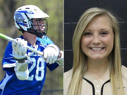 Columbus North's Wyatt Barkes and Shelbyville's Natalie Weber.