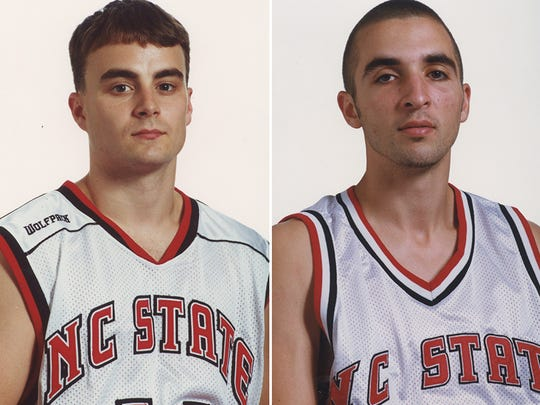 Archie Miller (left) and Brian Keeter (right) during