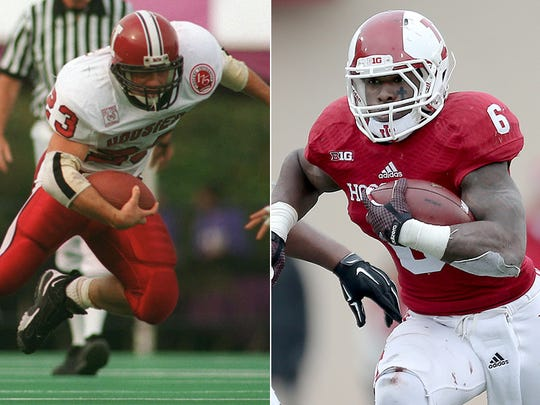 IU running backs Alex Smith (left) and Tevin Coleman