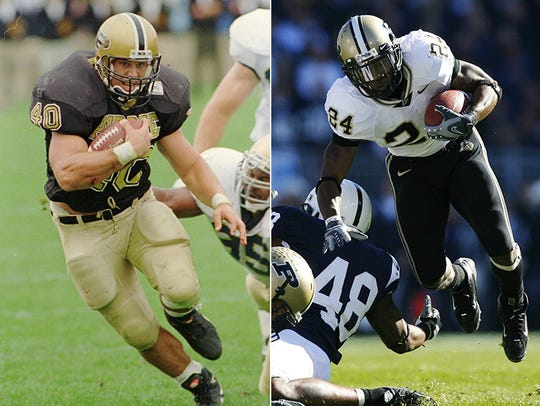 Purdue backs Mike Alstott (left) and Kory Sheets (right)