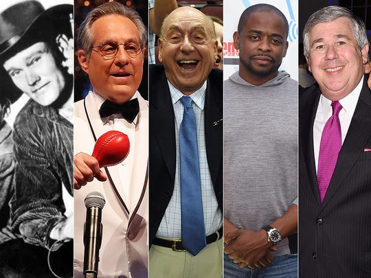 Chuck Connors, Max Weinberg, Dick Vitale, Dule Hill and Bob Ley.
