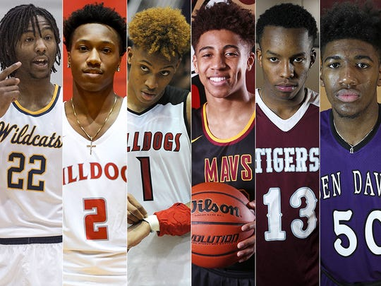 Left to right: Damezi Anderson, Mekhi Lairy, Romeo Langford, Robert Phinisee, Eric Hunter and Aaron Henry.
