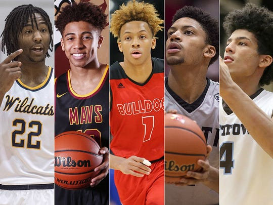 Left to right: Damezi Anderson, Rob Phinisee, Romeo Langford, Jerome Hunter and Jake Forrester.