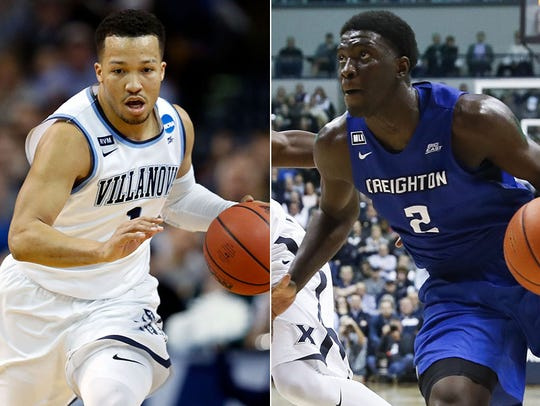 Villanova's Jalen Brunson and Creighton's Khyri Thomas