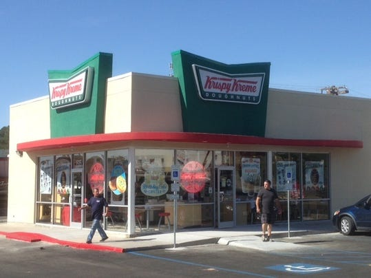 Krispy Kreme Doughnuts opened its fourth El Paso location Thursday at 3535 N. Mesa at Sun Bowl Drive, on the edge of the UTEP campus.