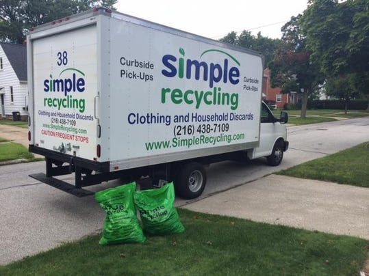Simple Recycling Bags and Truck
