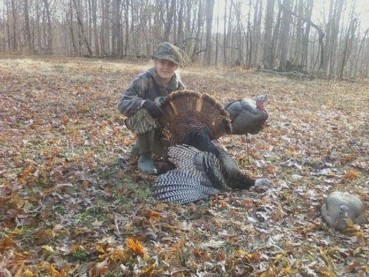 Turkey-Dakota Duke from Charlotte took a turkey during the juvenile hunt..jpg