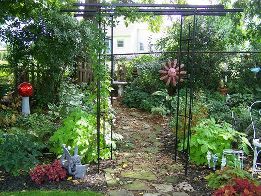 "This garden on Denise Road (named ""An L-Shaped Garden Wonder"") is part of this year's GPAS Notable Garden Tour. photo by Charyll Monk"