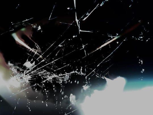 glass cracked windshield crash accident
