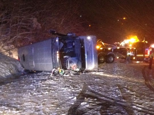 I-95 Stafford Prince Tours Inc. Bus Crash