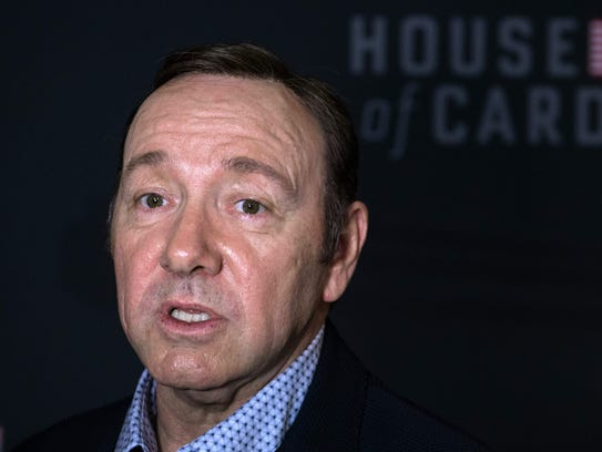 Kevin Spacey, arriving for  the season 4 premiere screening