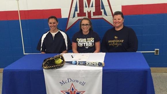 McDowell senior Aly Woody has signed to play college softball for Montreat.