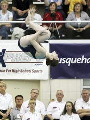 West York sophomore Erica Sarver will be back to try to medal again at Wednesday's Class AA girls diving championships.