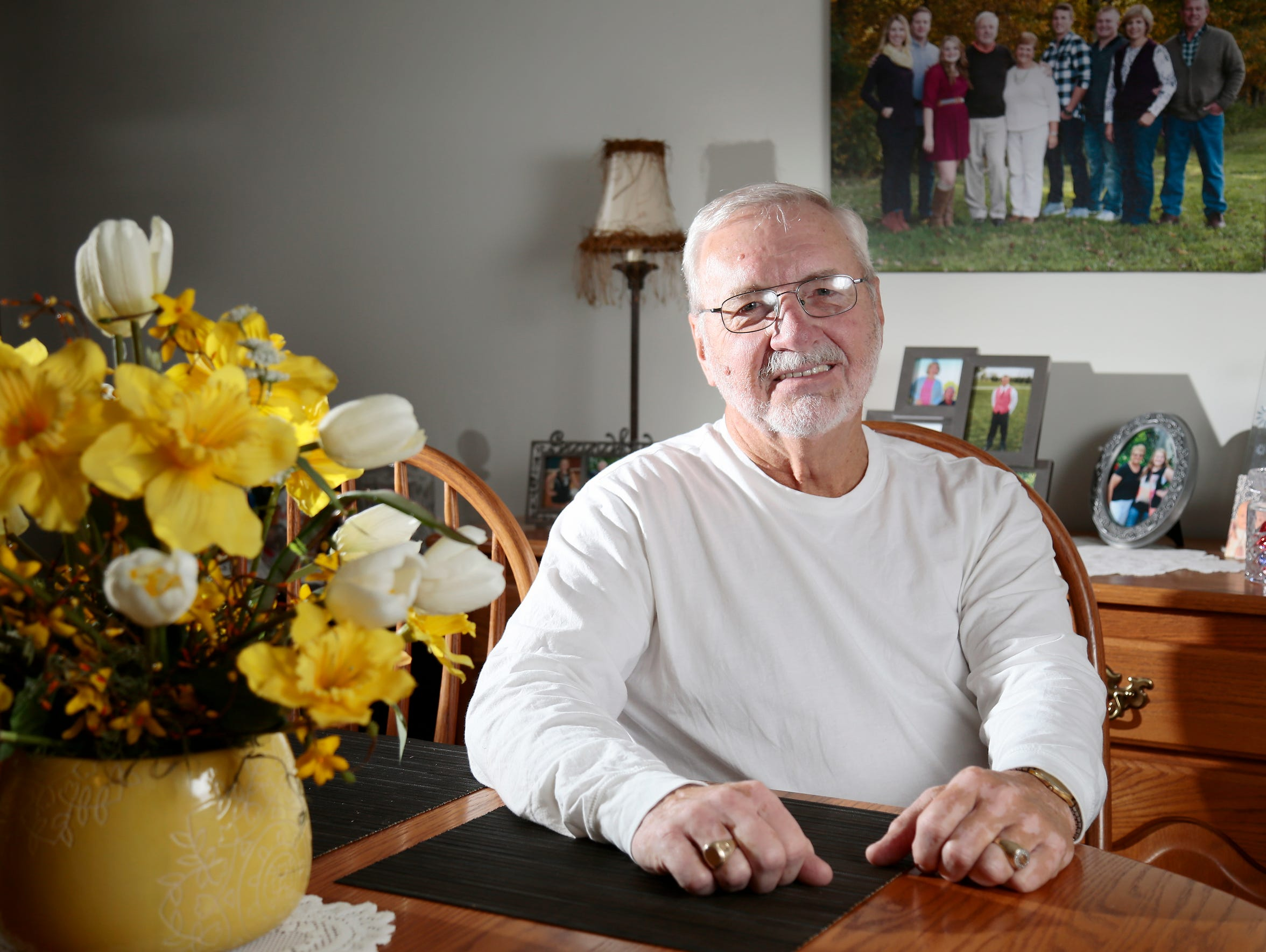 Ed Beckman, 70, of Ross Township, spent 32 years with